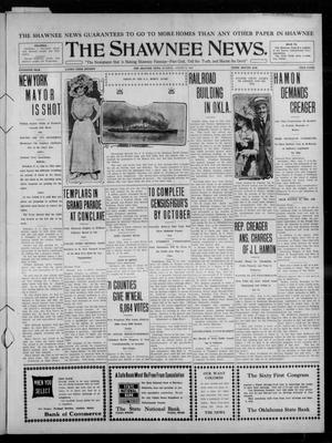 Primary view of object titled 'The Shawnee News. (Shawnee, Okla.), Vol. 15, No. 90, Ed. 1 Tuesday, August 9, 1910'.