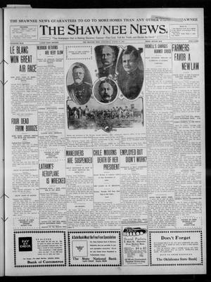 Primary view of object titled 'The Shawnee News. (Shawnee, Okla.), Vol. 15, No. 95, Ed. 1 Wednesday, August 17, 1910'.