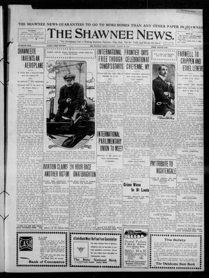 Primary view of object titled 'The Shawnee News. (Shawnee, Okla.), Vol. 15, No. 98, Ed. 1 Saturday, August 20, 1910'.
