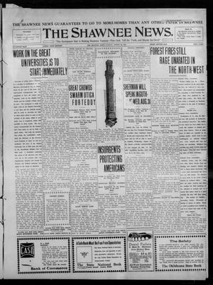 Primary view of object titled 'The Shawnee News. (Shawnee, Okla.), Vol. 15, No. 100, Ed. 1 Tuesday, August 23, 1910'.