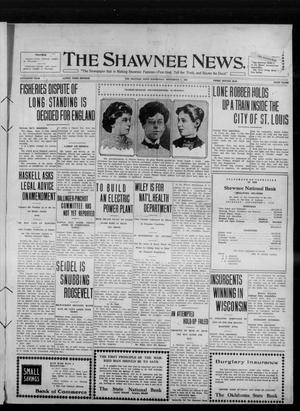 Primary view of object titled 'The Shawnee News. (Shawnee, Okla.), Vol. 15, No. 112, Ed. 1 Wednesday, September 7, 1910'.