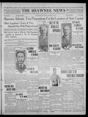 Primary view of object titled 'The Shawnee News (Shawnee, Okla.), Vol. 15, No. 191, Ed. 2 Sunday, December 11, 1910'.