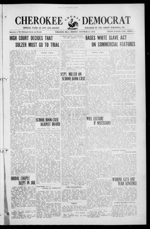 Primary view of object titled 'Cherokee County Democrat (Tahlequah, Okla.), Vol. 27, No. 2, Ed. 1 Thursday, September 25, 1913'.