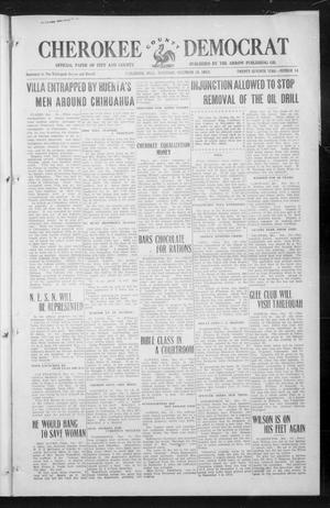 Primary view of object titled 'Cherokee County Democrat (Tahlequah, Okla.), Vol. 27, No. 14, Ed. 1 Thursday, December 18, 1913'.