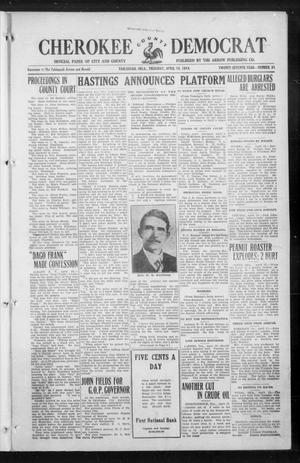Primary view of object titled 'Cherokee County Democrat (Tahlequah, Okla.), Vol. 27, No. 31, Ed. 1 Thursday, April 16, 1914'.