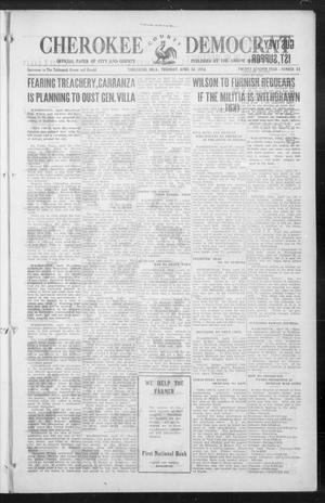 Primary view of object titled 'Cherokee County Democrat (Tahlequah, Okla.), Vol. 27, No. 33, Ed. 1 Thursday, April 30, 1914'.