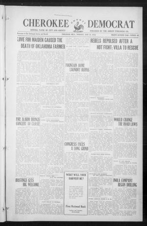 Primary view of object titled 'Cherokee County Democrat (Tahlequah, Okla.), Vol. 27, No. 40, Ed. 1 Thursday, June 18, 1914'.