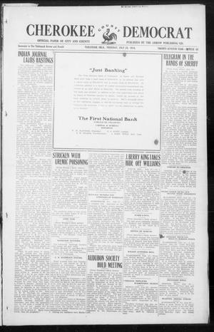 Primary view of object titled 'Cherokee County Democrat (Tahlequah, Okla.), Vol. 27, No. 45, Ed. 1 Thursday, July 23, 1914'.