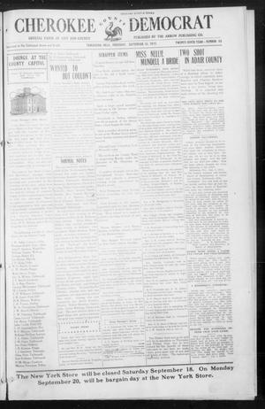 Primary view of object titled 'Cherokee County Democrat (Tahlequah, Okla.), Vol. 30, No. 53, Ed. 1 Thursday, September 16, 1915'.