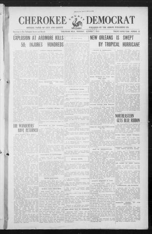 Primary view of object titled 'Cherokee County Democrat (Tahlequah, Okla.), Vol. 30, No. 55, Ed. 1 Thursday, September 30, 1915'.