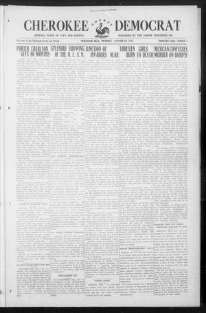 Primary view of object titled 'Cherokee County Democrat (Tahlequah, Okla.), Vol. 30, No. 7, Ed. 1 Thursday, October 28, 1915'.