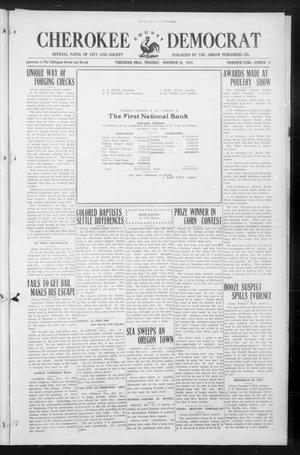 Primary view of object titled 'Cherokee County Democrat (Tahlequah, Okla.), Vol. 30, No. 11, Ed. 1 Thursday, November 25, 1915'.