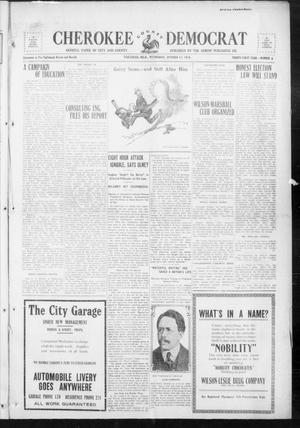 Primary view of object titled 'Cherokee County Democrat (Tahlequah, Okla.), Vol. 32, No. 4, Ed. 1 Wednesday, October 11, 1916'.