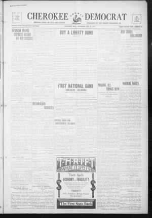 Primary view of object titled 'Cherokee County Democrat (Tahlequah, Okla.), Vol. 32, No. 37, Ed. 1 Wednesday, May 30, 1917'.