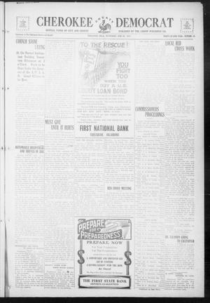 Primary view of object titled 'Cherokee County Democrat (Tahlequah, Okla.), Vol. 32, No. 40, Ed. 1 Wednesday, June 20, 1917'.