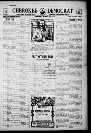 Primary view of object titled 'Cherokee County Democrat (Tahlequah, Okla.), Vol. 32, No. 49, Ed. 1 Wednesday, August 22, 1917'.