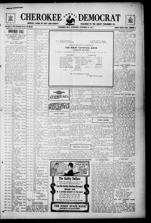 Primary view of object titled 'Cherokee County Democrat (Tahlequah, Okla.), Vol. 33, No. 2, Ed. 1 Wednesday, September 26, 1917'.
