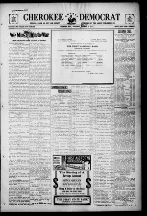 Primary view of object titled 'Cherokee County Democrat (Tahlequah, Okla.), Vol. 33, No. 3, Ed. 1 Wednesday, October 3, 1917'.