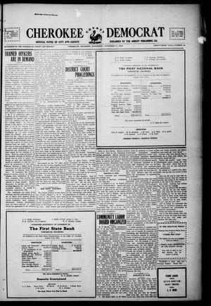 Primary view of object titled 'Cherokee County Democrat (Tahlequah, Okla.), Vol. 33, No. 52, Ed. 1 Wednesday, September 11, 1918'.