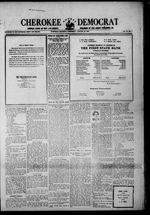 Primary view of object titled 'Cherokee County Democrat (Tahlequah, Okla.), Vol. 35, No. 7, Ed. 1 Wednesday, January 21, 1920'.