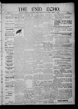Primary view of The Enid Echo. (Enid, Okla.), Vol. 3, No. 19, Ed. 1 Wednesday, March 5, 1902