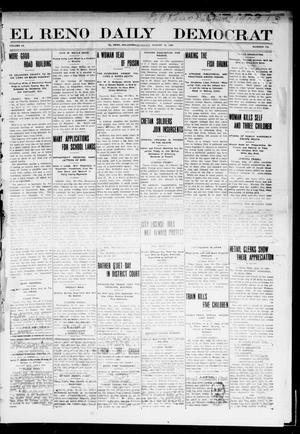 Primary view of object titled 'El Reno Daily Democrat (El Reno, Okla.), Vol. 9, No. 115, Ed. 1 Monday, August 16, 1909'.