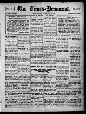 Primary view of The Times--Democrat. (Pawnee, Okla.), Vol. 26, No. 44, Ed. 1 Thursday, June 13, 1918