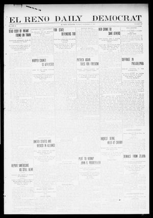 Primary view of object titled 'El Reno Daily Democrat (El Reno, Okla.), Vol. 9, No. 204, Ed. 1 Tuesday, November 30, 1909'.
