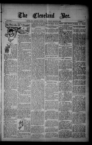 Primary view of The Cleveland Bee. (Cleveland, Okla. Terr.), Vol. 2, No. 8, Ed. 1 Friday, March 13, 1896