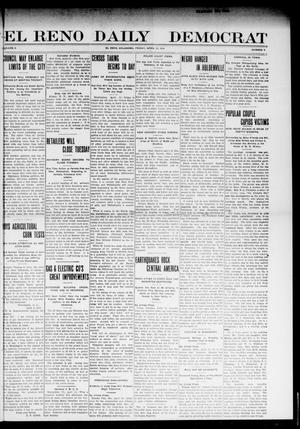 Primary view of object titled 'El Reno Daily Democrat (El Reno, Okla.), Vol. 10, No. 9, Ed. 1 Friday, April 15, 1910'.