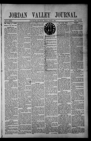 Primary view of object titled 'Jordan Valley Journal. (Cleveland, Okla.), Vol. 1, No. 23, Ed. 1 Friday, June 8, 1894'.