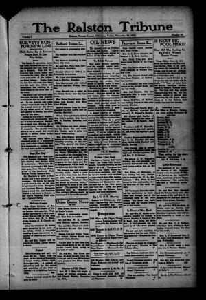 Primary view of object titled 'The Ralston Tribune (Ralston, Okla.), Vol. 1, No. 23, Ed. 1 Friday, November 24, 1916'.