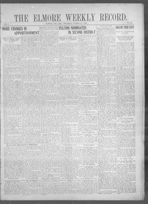 Primary view of The Elmore Weekly Record. (Elmore, Indian Terr.), Vol. 1, No. 40, Ed. 1 Thursday, March 14, 1907