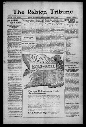 Primary view of object titled 'The Ralston Tribune (Ralston, Okla.), Vol. 4, No. 15, Ed. 1 Tuesday, January 6, 1920'.
