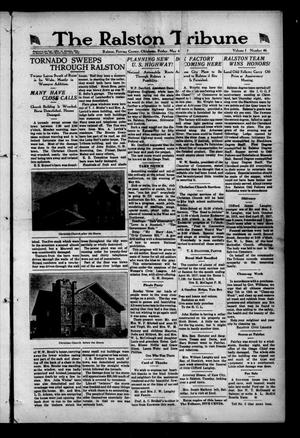 Primary view of object titled 'The Ralston Tribune (Ralston, Okla.), Vol. 1, No. 46, Ed. 1 Friday, May 4, 1917'.