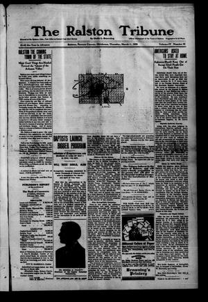 Primary view of object titled 'The Ralston Tribune (Ralston, Okla.), Vol. 4, No. 23, Ed. 1 Thursday, March 4, 1920'.