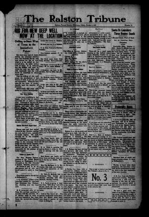 Primary view of object titled 'The Ralston Tribune (Ralston, Okla.), Vol. 1, No. 16, Ed. 1 Friday, October 6, 1916'.