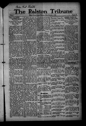 Primary view of object titled 'The Ralston Tribune (Ralston, Okla.), Vol. 1, No. 24, Ed. 1 Friday, December 1, 1916'.