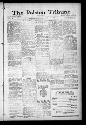 Primary view of object titled 'The Ralston Tribune (Ralston, Okla.), Vol. 2, No. 21, Ed. 1 Friday, November 9, 1917'.