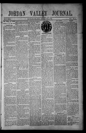 Primary view of object titled 'Jordan Valley Journal. (Cleveland, Okla.), Vol. 1, No. 25, Ed. 1 Friday, June 22, 1894'.