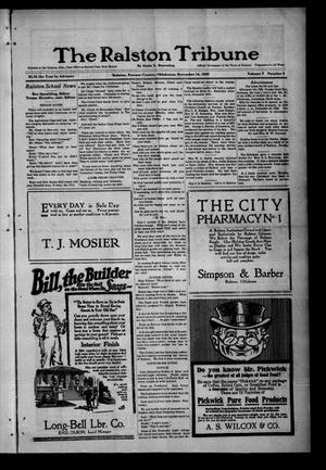 Primary view of object titled 'The Ralston Tribune (Ralston, Okla.), Vol. 5, No. 9, Ed. 1 Tuesday, December 14, 1920'.