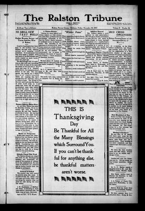 Primary view of object titled 'The Ralston Tribune (Ralston, Okla.), Vol. 2, No. 24, Ed. 1 Friday, November 30, 1917'.