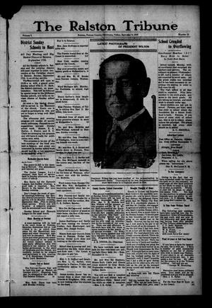Primary view of object titled 'The Ralston Tribune (Ralston, Okla.), Vol. 1, No. 12, Ed. 1 Friday, September 8, 1916'.