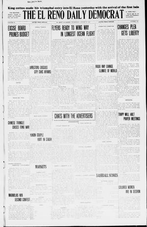 Primary view of object titled 'The El Reno Daily Democrat (El Reno, Okla.), Vol. 34, No. 195, Ed. 1 Wednesday, August 26, 1925'.