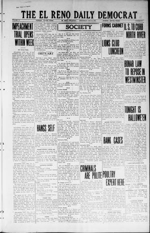 Primary view of object titled 'The El Reno Daily Democrat (El Reno, Okla.), Vol. 33, No. 48, Ed. 1 Wednesday, October 31, 1923'.