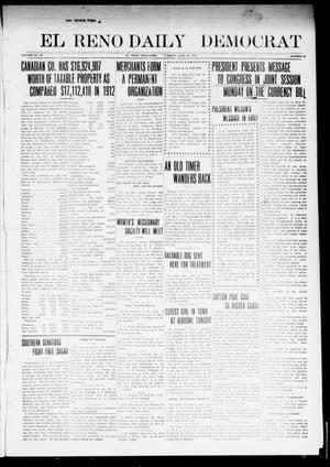 Primary view of object titled 'El Reno Daily Democrat (El Reno, Okla.), Vol. 23, No. 49, Ed. 1 Tuesday, June 24, 1913'.
