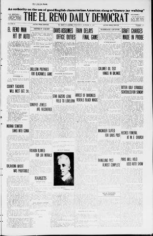 Primary view of object titled 'The El Reno Daily Democrat (El Reno, Okla.), Vol. 34, No. 237, Ed. 1 Wednesday, October 14, 1925'.
