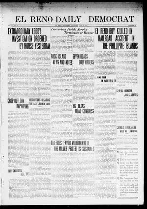 Primary view of object titled 'El Reno Daily Democrat (El Reno, Okla.), Vol. 23, No. 62, Ed. 1 Thursday, July 10, 1913'.