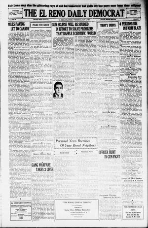 Primary view of object titled 'The El Reno Daily Democrat (El Reno, Okla.), Vol. 38, No. 81, Ed. 1 Wednesday, May 8, 1929'.