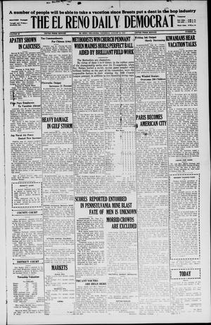 Primary view of object titled 'The El Reno Daily Democrat (El Reno, Okla.), Vol. 35, No. 190, Ed. 1 Thursday, August 26, 1926'.